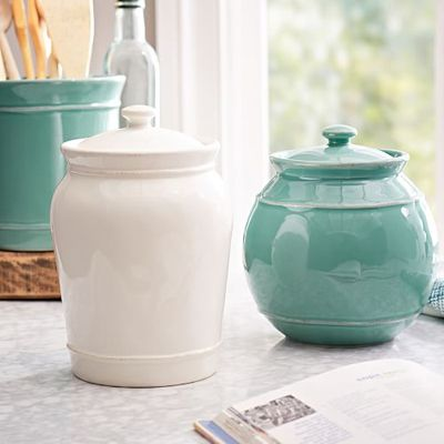 Cambria Canisters House Of Turquoise Pottery Barn
