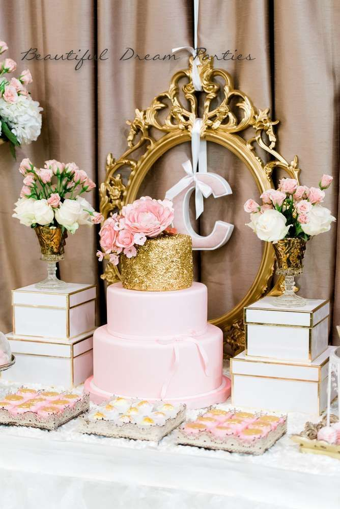 Elegant Gold And Pink Birthday Party Ideas Pink Birthday Party