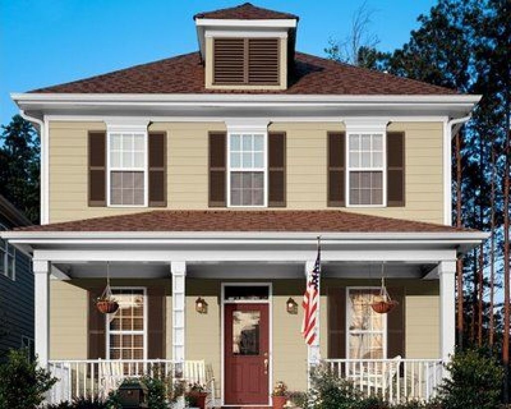 Exterior house colors with brown roof -  Best House Paint Color Sceams Brown Roof Oh Hi You Pretty Thing With Exterior House Colors