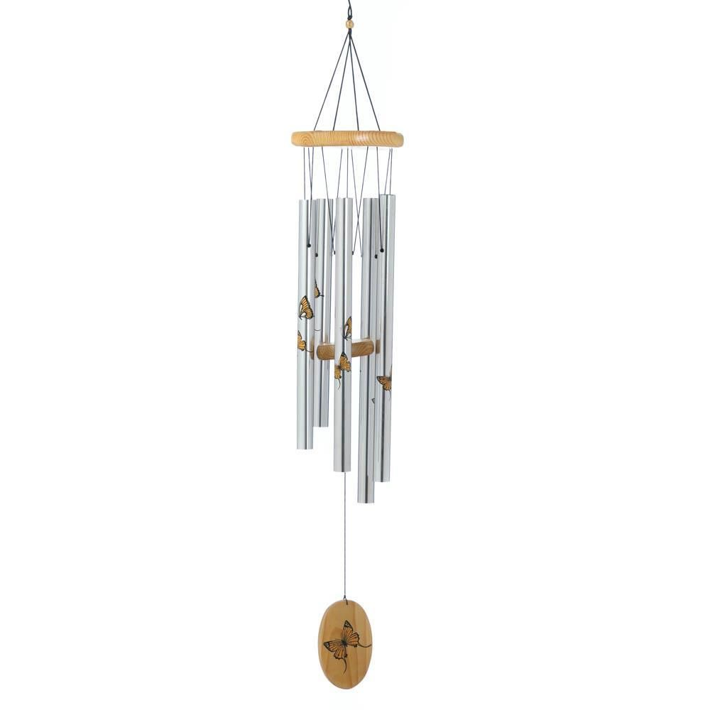 Gifts /& Decor Aluminum Natural Pine Resonant Wind Chime