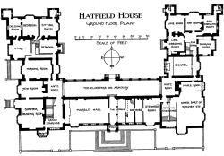 Hatfield House Ground Floor Plan English Manor Houses Hatfield House Vintage House Plans