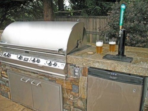 Firemagic Bbq And Kegerator Traditional Landscape Other Metro By Alder Group Pool And Landscape Outdoor Kegerator Outdoor Bbq Kitchen Outdoor Kitchen