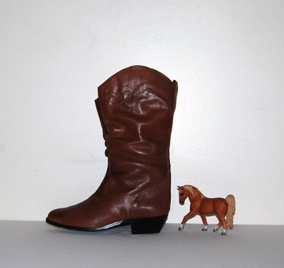 Vintage Western Boots by CheekyVintageCloset on Etsy, $54.00