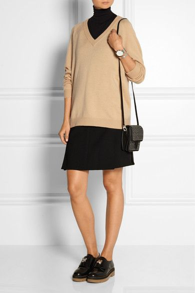 Sand wool and cashmere-blend Slips on 90% wool, 10% cashmere Dry clean Designer color: Mannequin