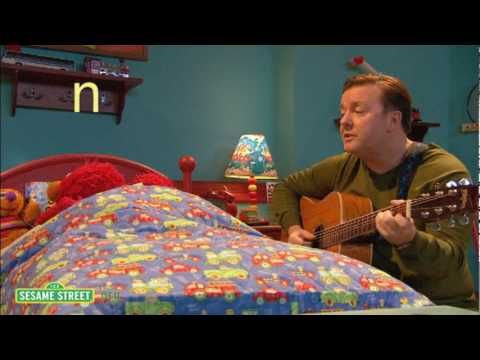 """Perfect for my Prek/K and loud/soft: Elmo and Ricky Gervais singing lullabies and learning about the letter """"N""""."""