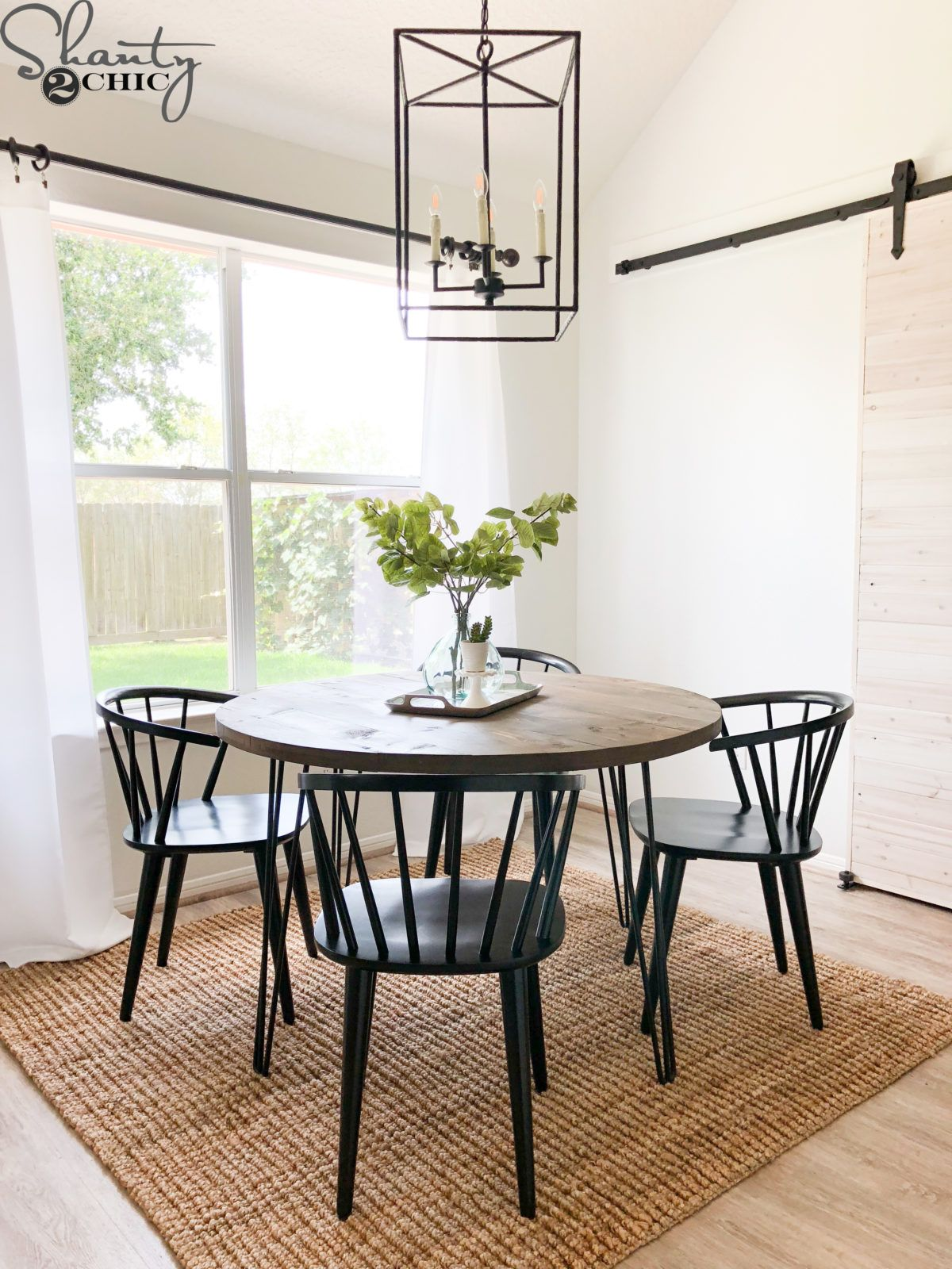 DIY Round Hairpin Table Hairpin dining table, Outdoor