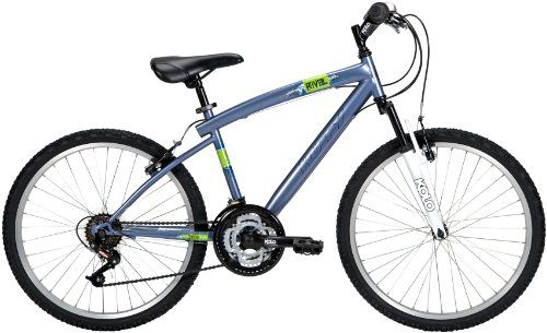 Huffy Rival 24 Inch Bike Is Blue Slate Metallic In Color With A Hi