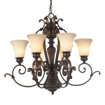 Costco Laurel Designs 6 Light Medium Bronze Finish Chandelier