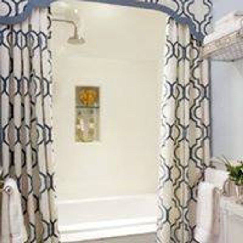 Luxury Custom Bathroom Decor Custom Shower Curtain Bathroom Etsy