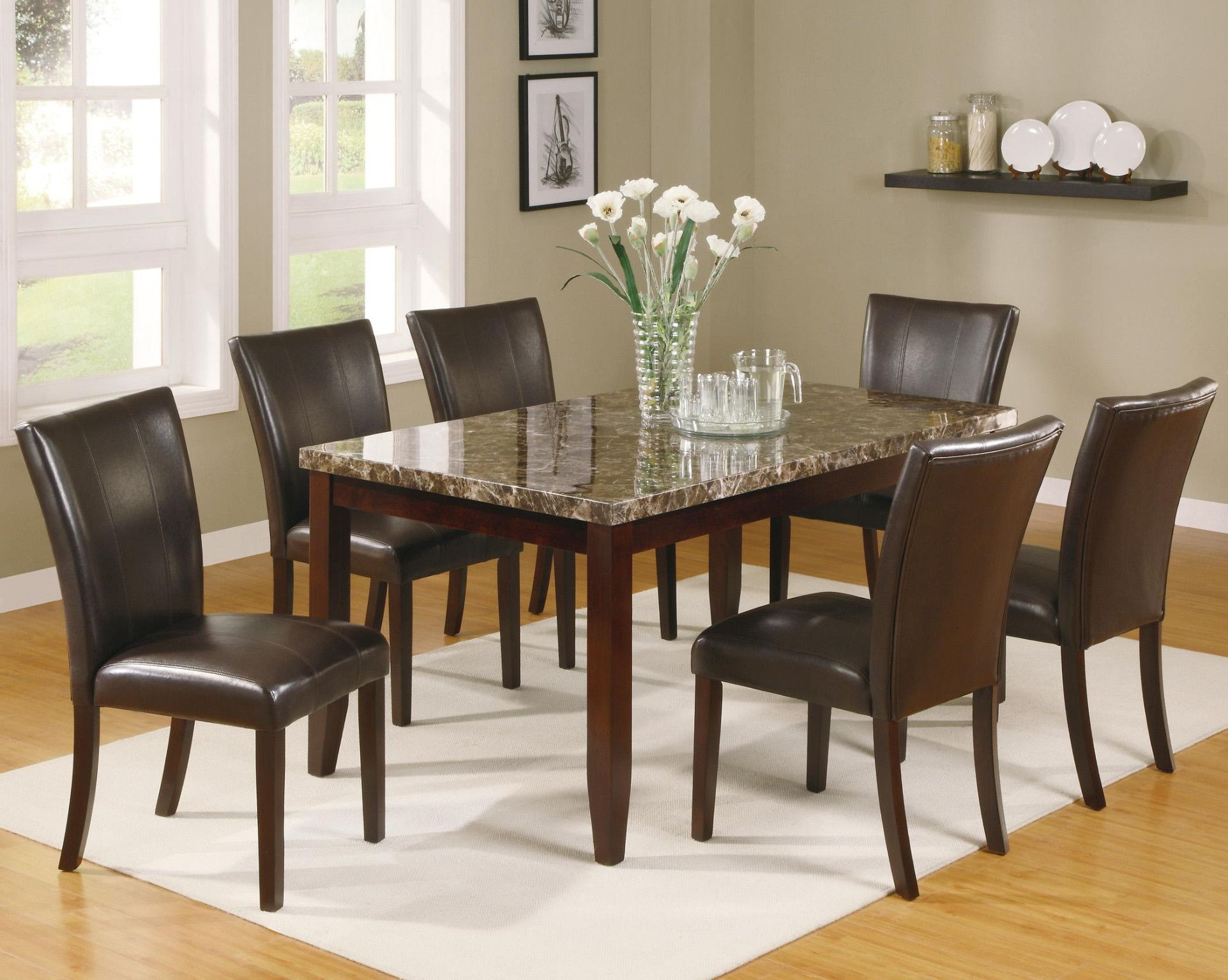 Ferrara 5 Piece Dinette Table And 4 Chairs 498 00 Table 38 X 64