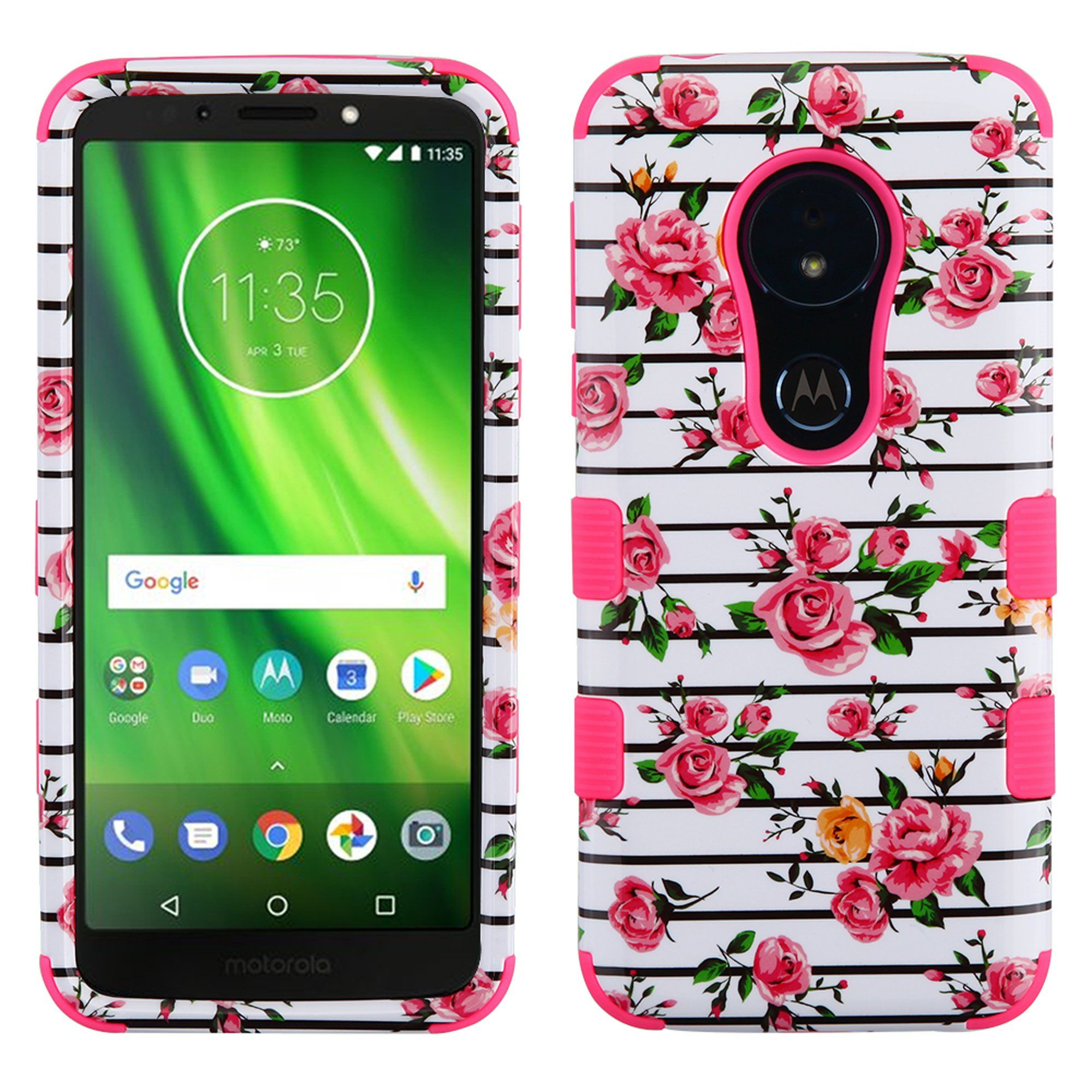 Tuff Motorola Moto G6 Play Forge Case Pink Fresh Roses Motorola Phone Motorola Phone Cases Pink Phone Cases