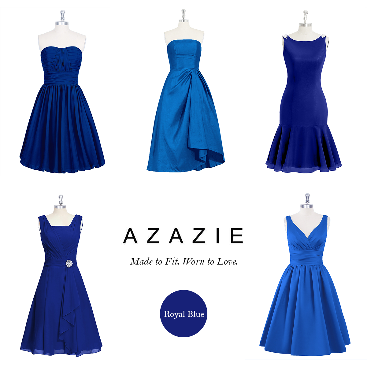 Based in San Francisco, AZAZIE is the ultimate online destination for custom bridesmaid dresses. Shop from 300+ styles in Royal Blue.