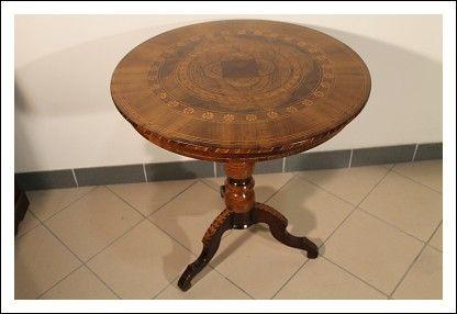 Tavolo Intarsiato ~ Tavolo antico sorrentino intarsiato tavolino tavolinetto antico