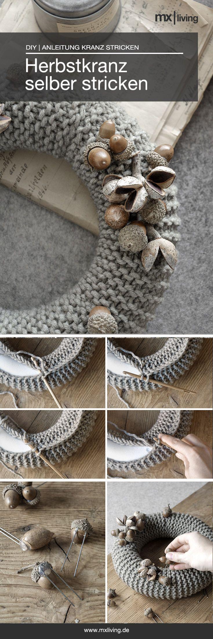 Photo of DIY | Herbstkranz stricken – mxliving