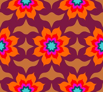 Blumen stoff 1001 nacht orient blume m dchen blumen bl tter retro - Tapete orientalisch blau ...