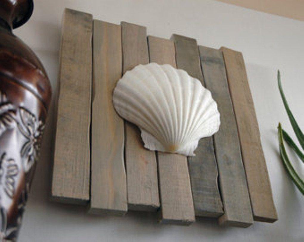 Charmant Seashell Art Seashell Decor Clam Sllop Beach By JetmakDesigns