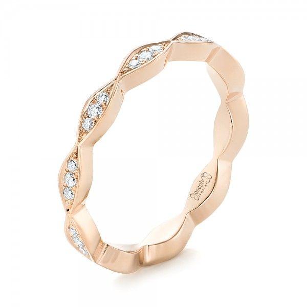 custom rose gold eternity diamond wedding band joseph jewelry bellevue seattle online