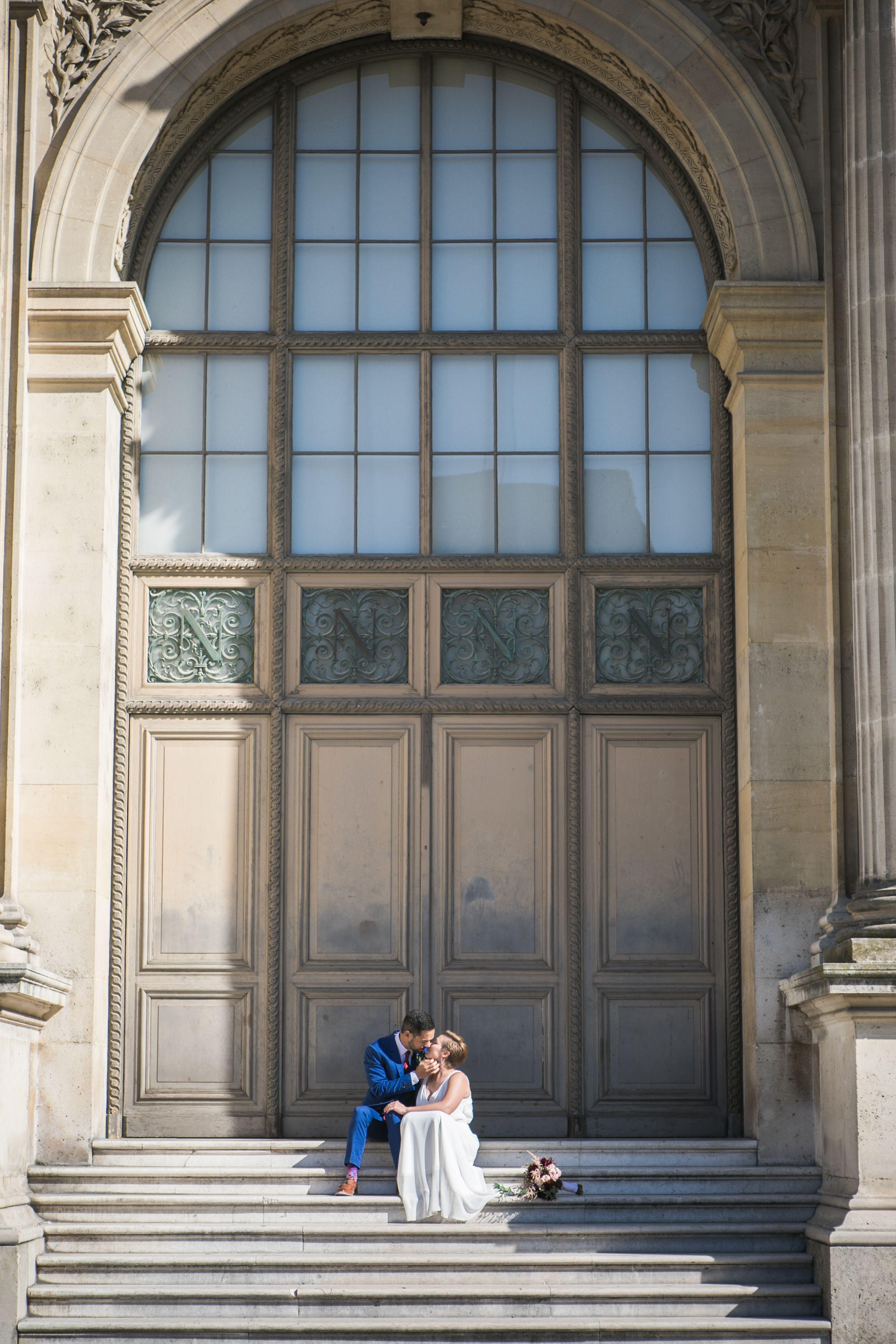 Pattie Anthony S Romantic Elopement In Paris Peach Perfect Weddings Paris Elopement Elope Elopement Ceremony