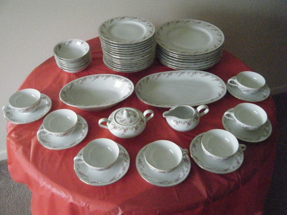 set of eschenbach china pattern p864 made in bavaria germany 49 pieces eschenbach my. Black Bedroom Furniture Sets. Home Design Ideas