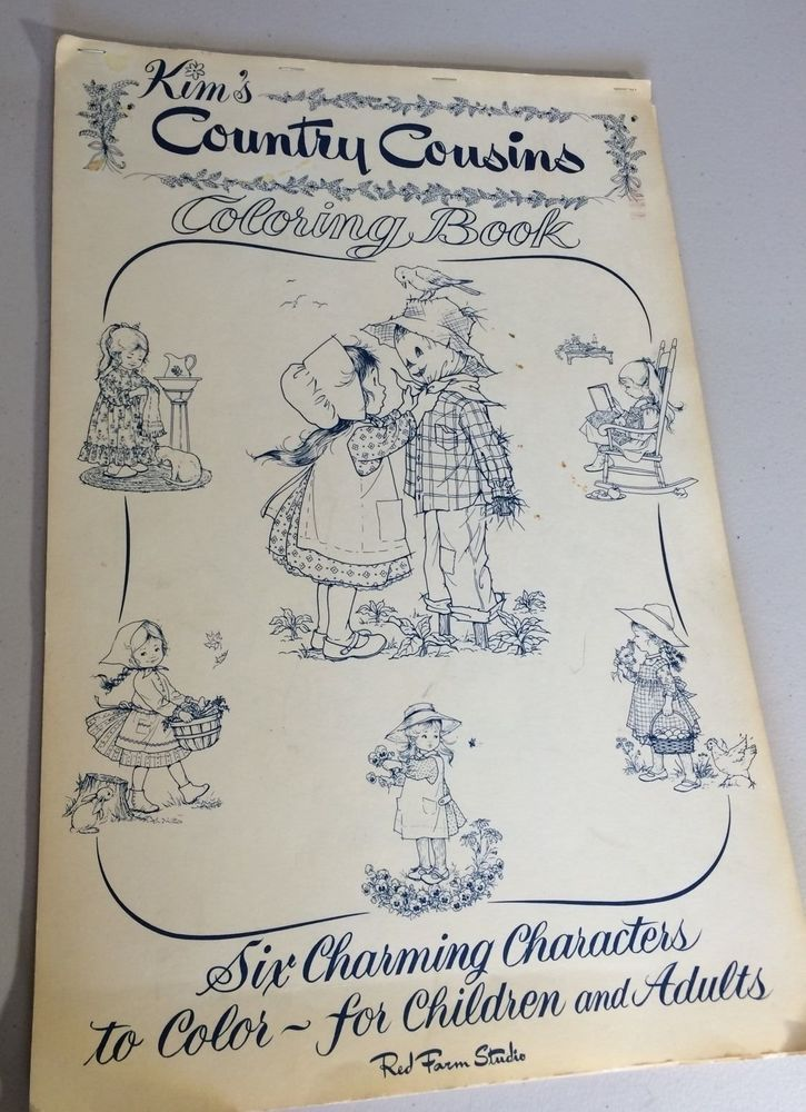 VINTAGE Kim\'s Country Cousins Coloring Book By Red Farm Studio ...