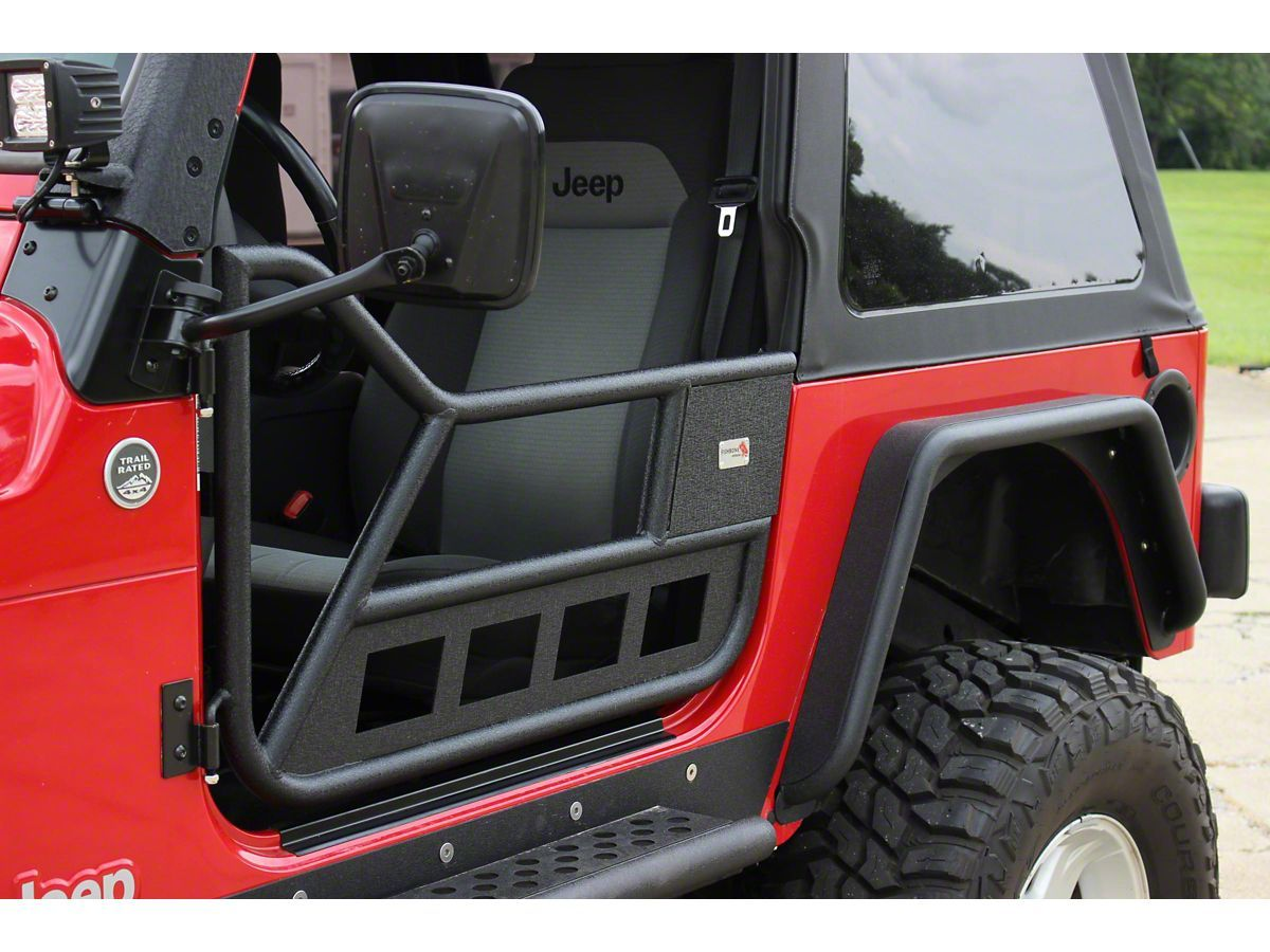 Fishbone Offroad Jeep Wrangler Front Tube Doors Textured Black Fb24077 97 06 Jeep Wrangler Tj In 2020 Jeep Wrangler Tj Wrangler Tj Jeep Wrangler