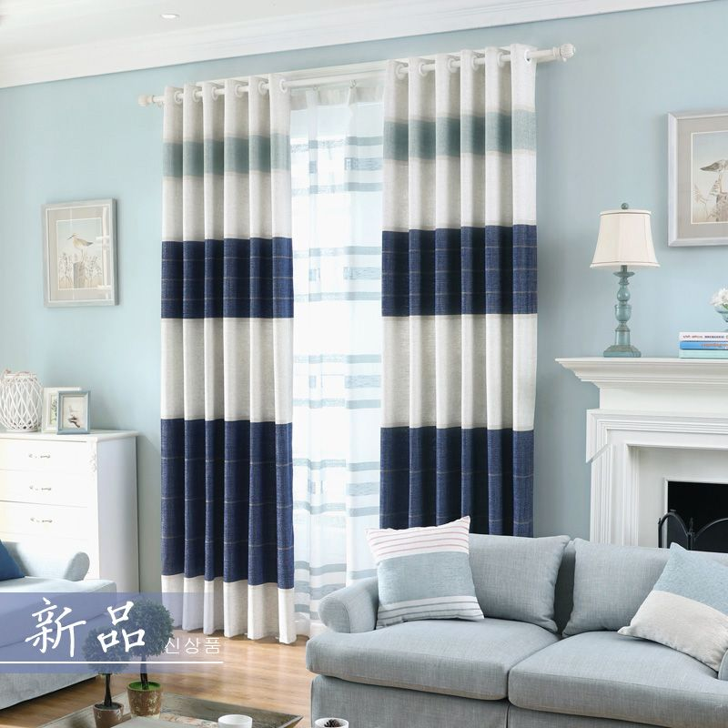 Us 178 02 Chenille Tulle Curtain For Living Room Blackout Home Decor Blackout Chen Blue Curtains Living Room Inexpensive Living Room Curtains Living Room