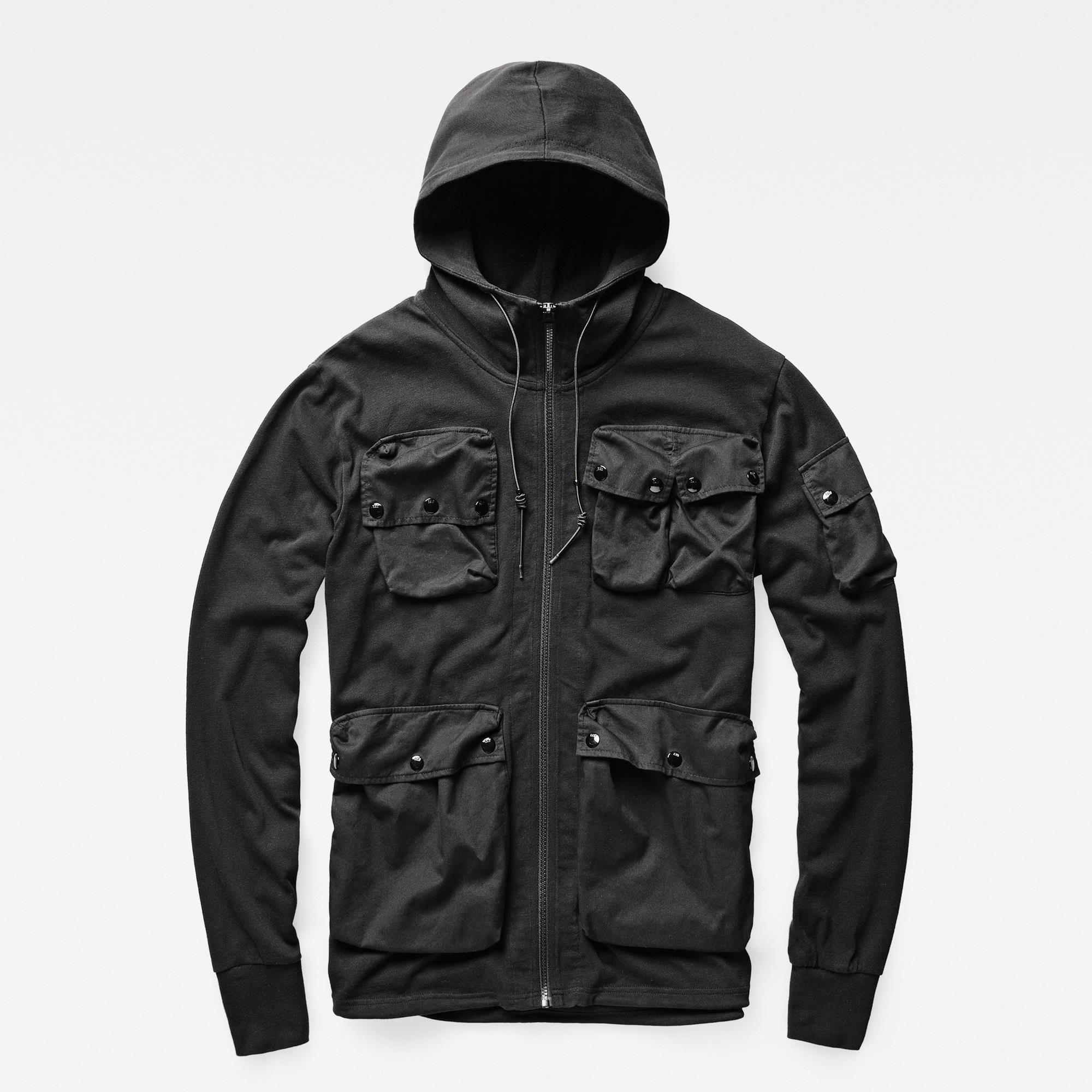 Mit funktionellen Taschen aus Kontrastmaterial ausgestattet, stammt die Inspiration für dieses Sweatshirt von einer schweizerischen Militär-Uniform aus d...