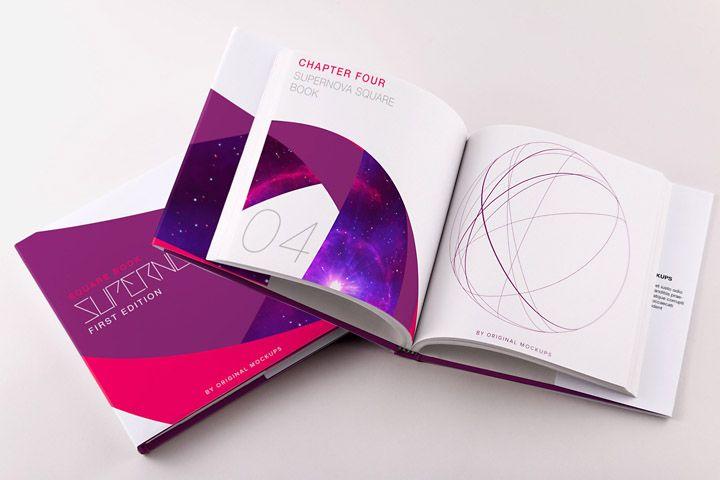 Hardcover Small Square Book PSD Mockup 01 - Original Mockups - 80+ Stunning Mockups for Editorial design lovers - Download Supernova Bundle: http://originalmockups.com/bundles/supernova-mockups-bundle