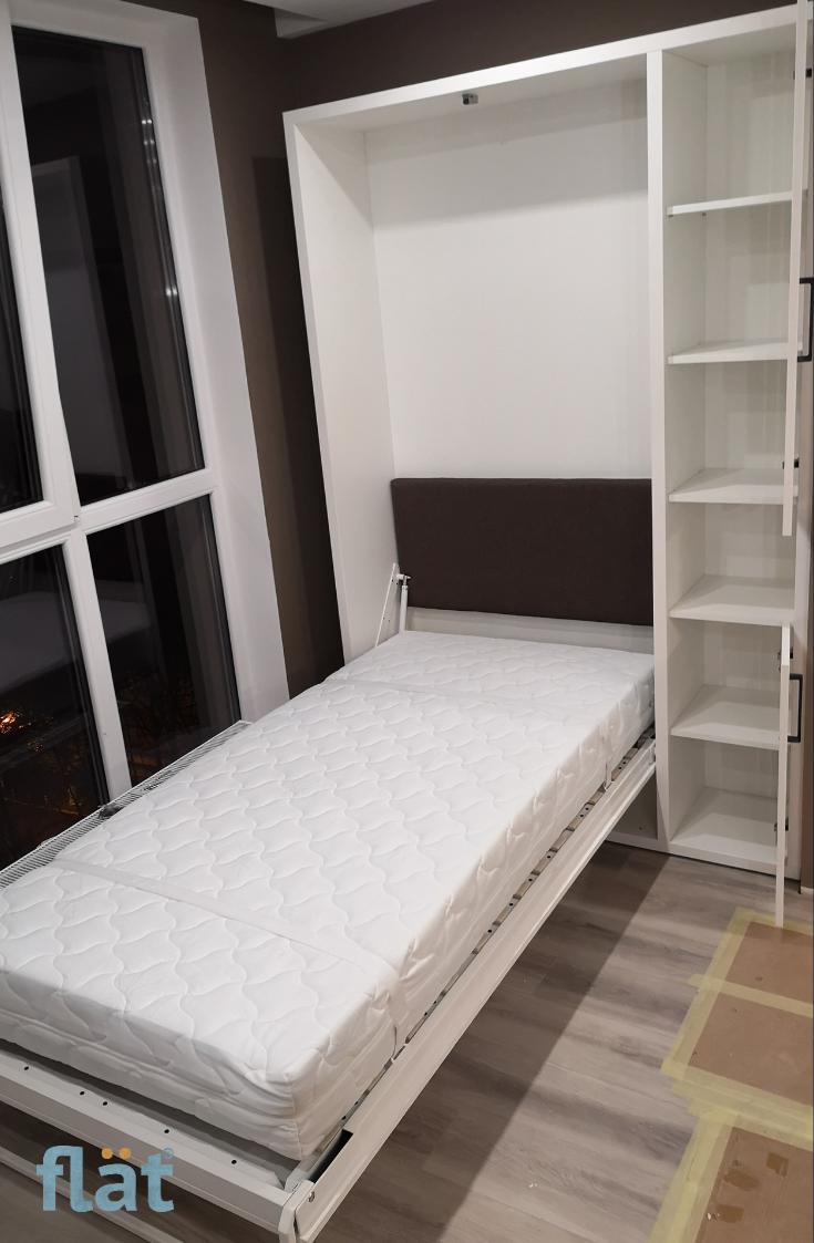 Single Size Wall Bed Odnomestnaya Shkaf Krovat Wallbed Flat