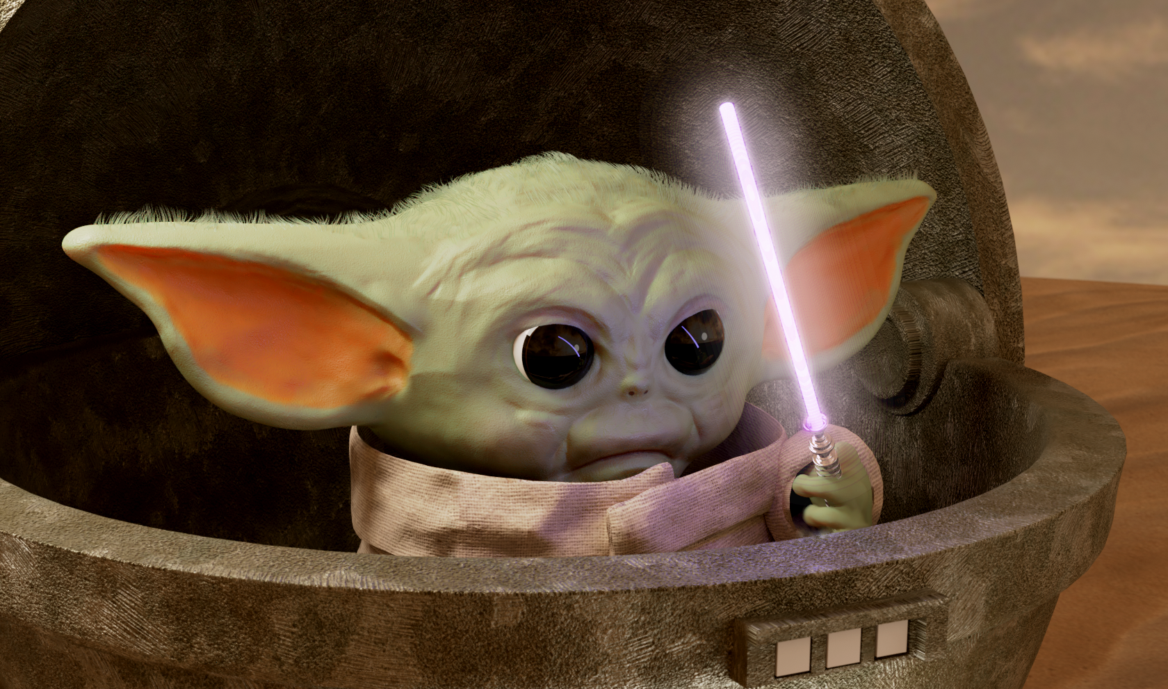 My Attempt At Baby Yoda Yoda Lightsaber Image Macro