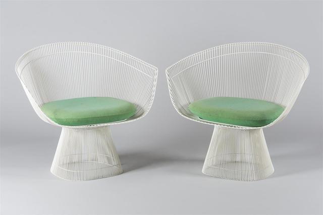 warren platner 1919 paire de fauteuils mod le 1725a dition sp ciale cr ation 1966. Black Bedroom Furniture Sets. Home Design Ideas
