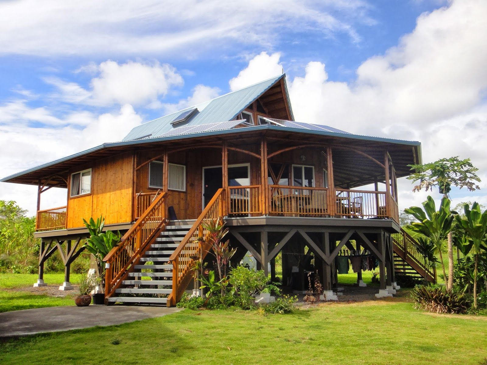 Different Types of Offgrid Homes Bamboo house, Small