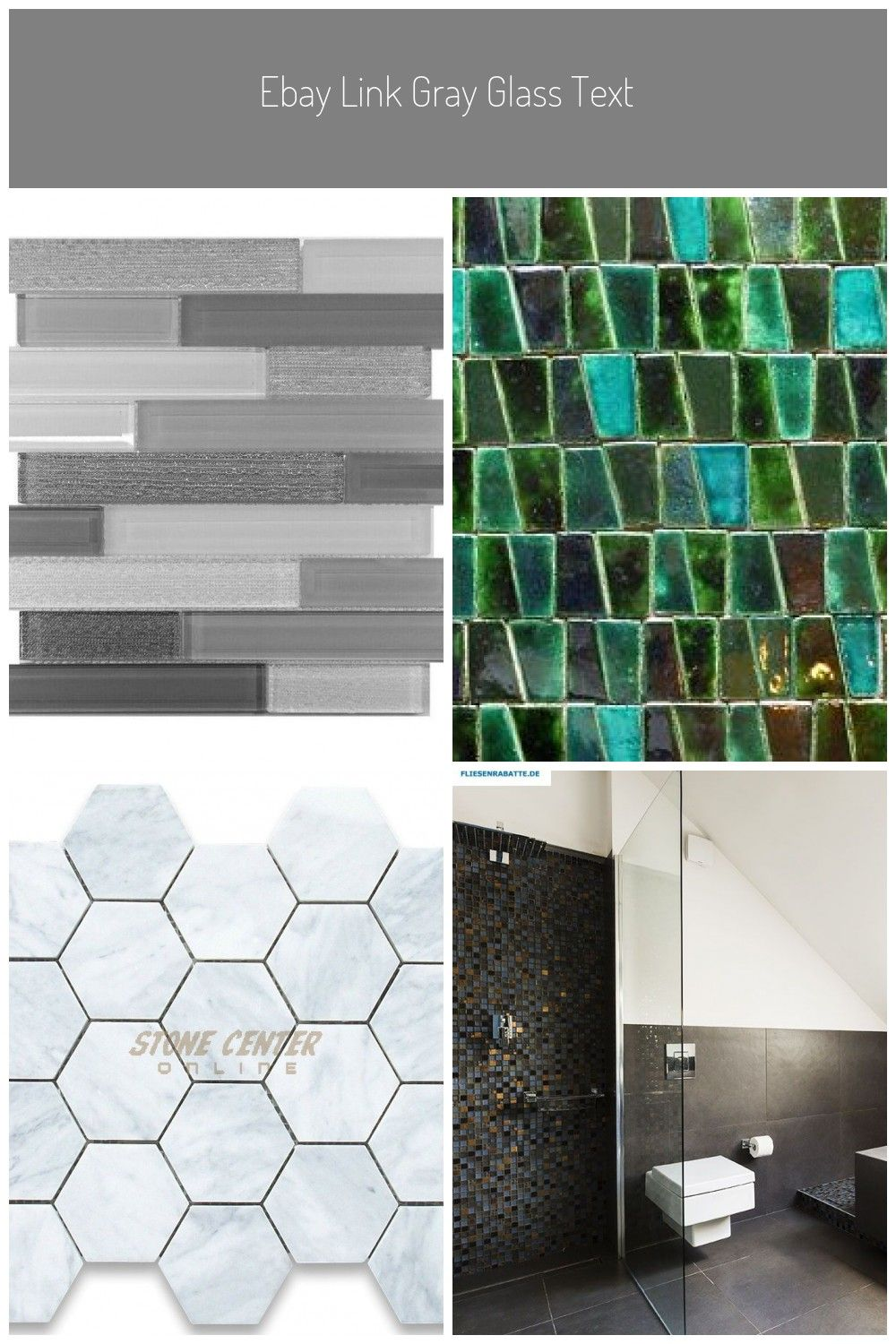 Ebay Link Gray Glass Texture Interlock Mosaic Tile Shower Kitchen Ebay Link Grau Glas Textur Interlock Mosaik Fli Mosaic Shower Tile Shower Tile Mosaic Tiles
