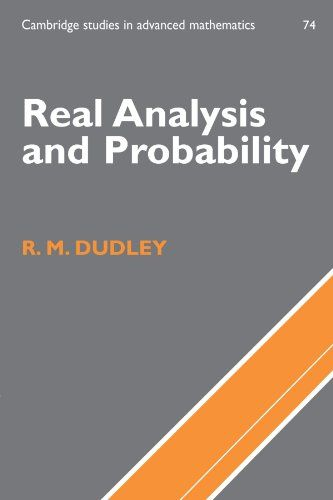 Real Analysis and Probability, by R  M  Dudley | Books I Want in