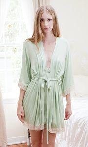 mint green robe