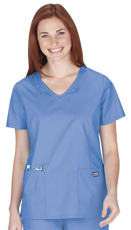 Cherokee Authentic Workwear Embroidered Scrub Top