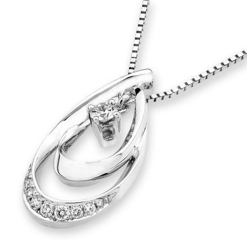 IADFBA  18K/750 White Gold Droplet Petal Diamond by IADJewellery, $516.00