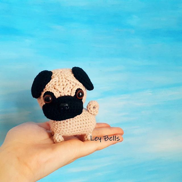 Crochet Baby Pug Amigurumi | Crochet crafts, Crochet patterns ... | 640x640