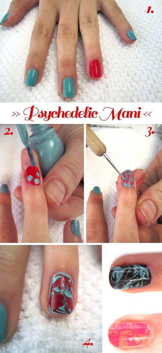 Psychedelic Nail Art Re Pin Nail Exchange Pinterest Nails