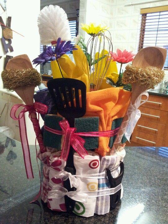 Bridal Shower Kitchen Cleaning Supplies Cake Kitchen Tea Bridal Shower Tea Towel Cakes
