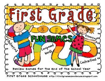 First Grade End Of Year Games First Grade First Grade Reading First Grade Teachers