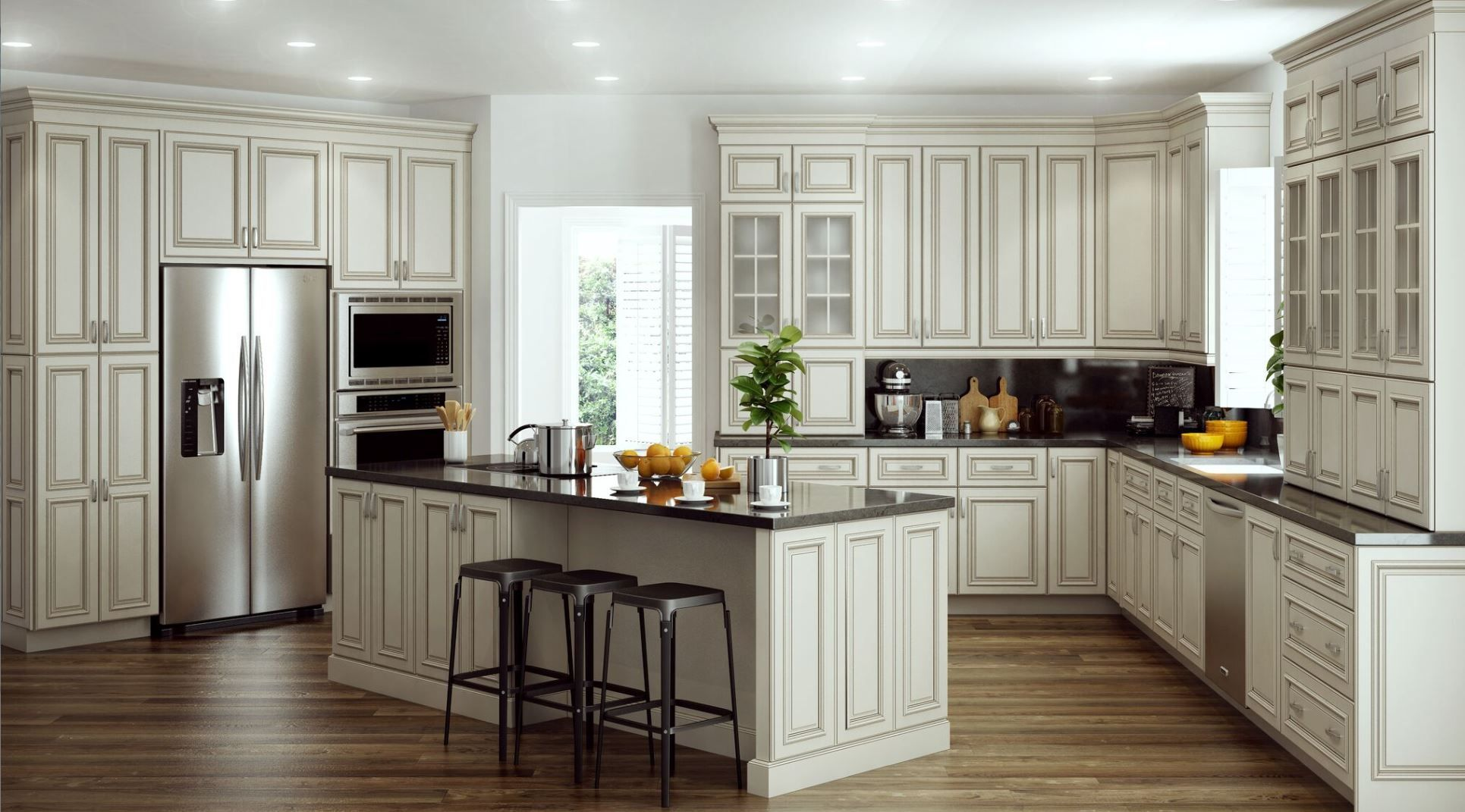 Shop Our Kitchen Cabinets Department To Customize Your Holden Base Cabinets In Bronze Glaz Home Depot Kitchen Beautiful Kitchen Cabinets Kitchen Remodel Trends
