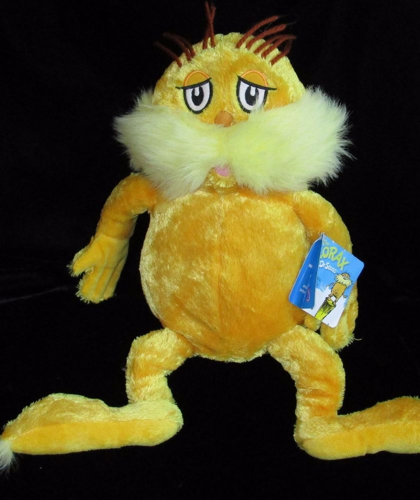 Dr Seuss The Lorax Plush Tags Soft Toy Stuffed Kohls Cares