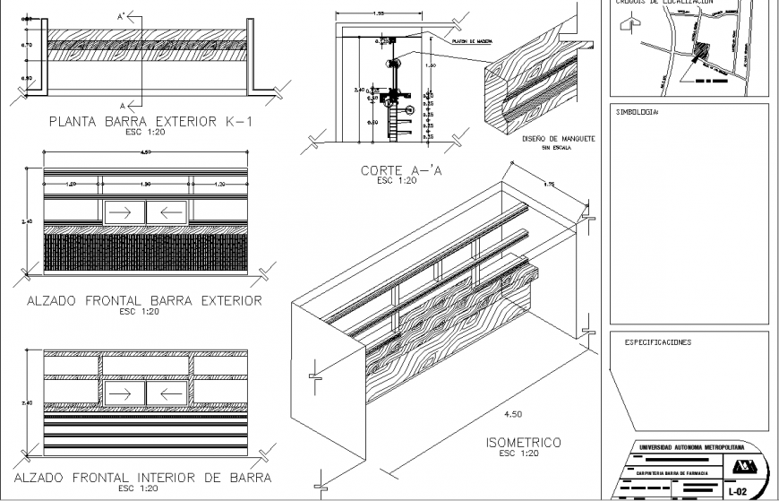 Detail manager table drawing in dwg AutoCAD file. (With ...