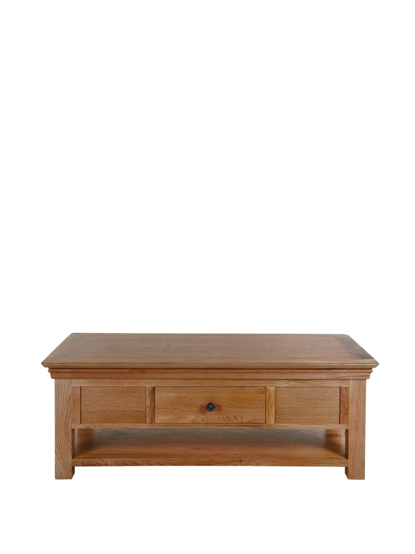 Constance Solid Oak Coffee Table Very Co Uk