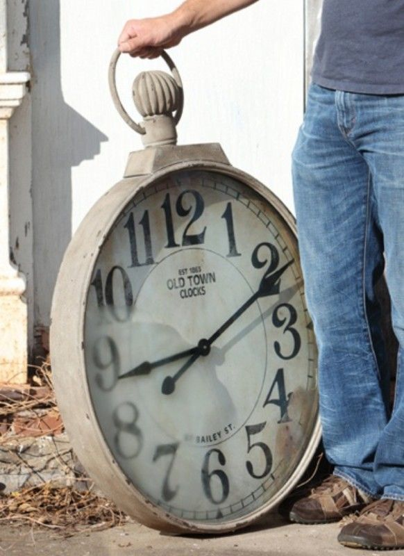Large Pocket Watch Wall Clock Foter In 2019 Antique