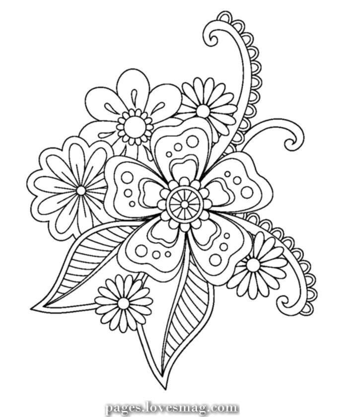 Magical Picture Of The Doodle Picture Coloring Pages In 2020 Flower Coloring Pages Doodle Coloring Coloring Pages