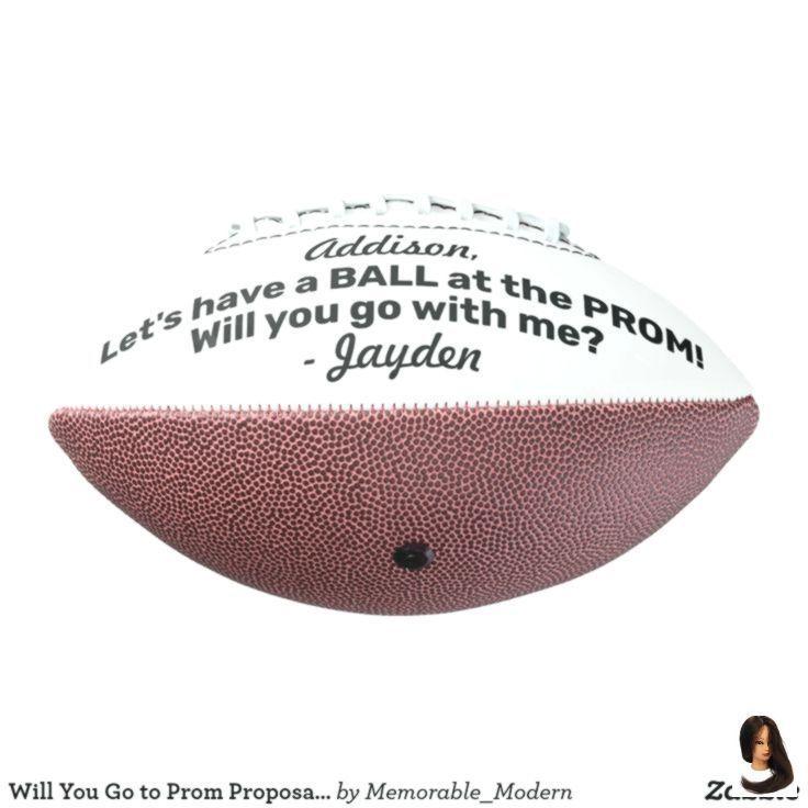 Abschlussball oder HOCO Vorschlag süße lustige Promposal Idee Fußball #Hocoproposals Abschlussball oder #hocoproposals