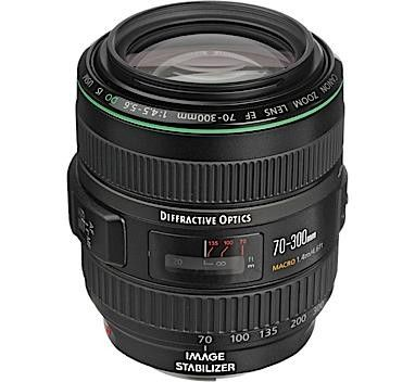 Dyfractive Glass In This Canon Do Lens Light And Easy To Use Travel Lens Canon Ef 70 300mm F 4 5 5 6 Canon Eos Cameras Canon Dslr Lenses Camera Lenses Canon
