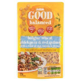 Asda Good Balanced Bulgur Wheat Chickpeas Red Quinoa With